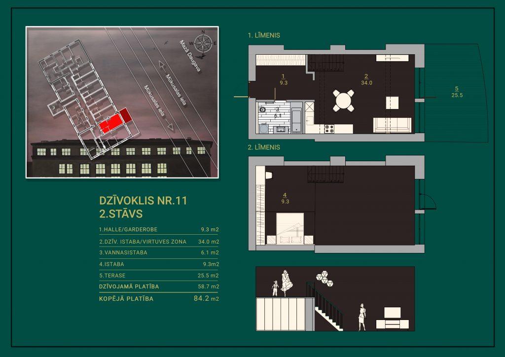 Dzīvoklis Nr. 11 Plāns