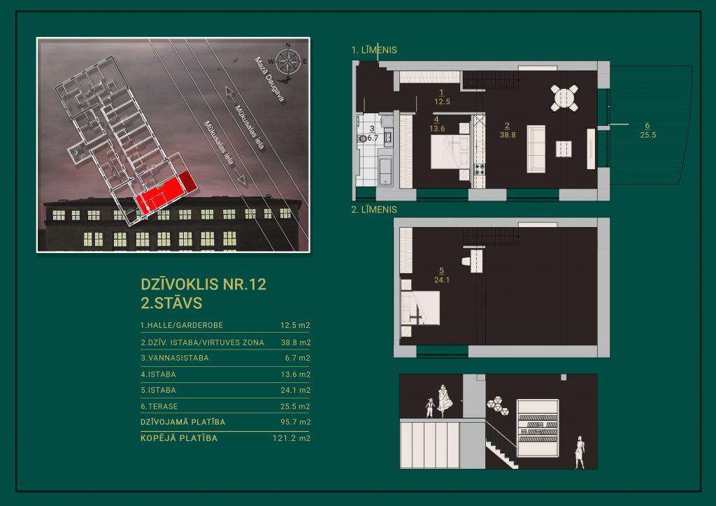 Dzīvoklis Nr. 12 Plāns