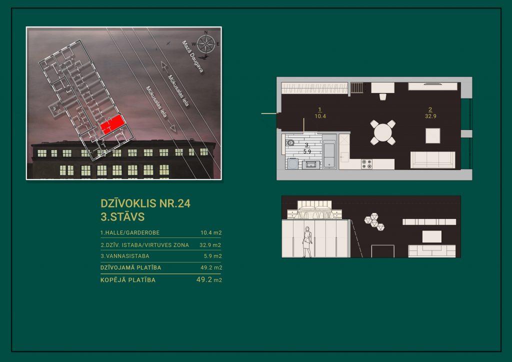 Dzīvoklis Nr. 24 Plāns