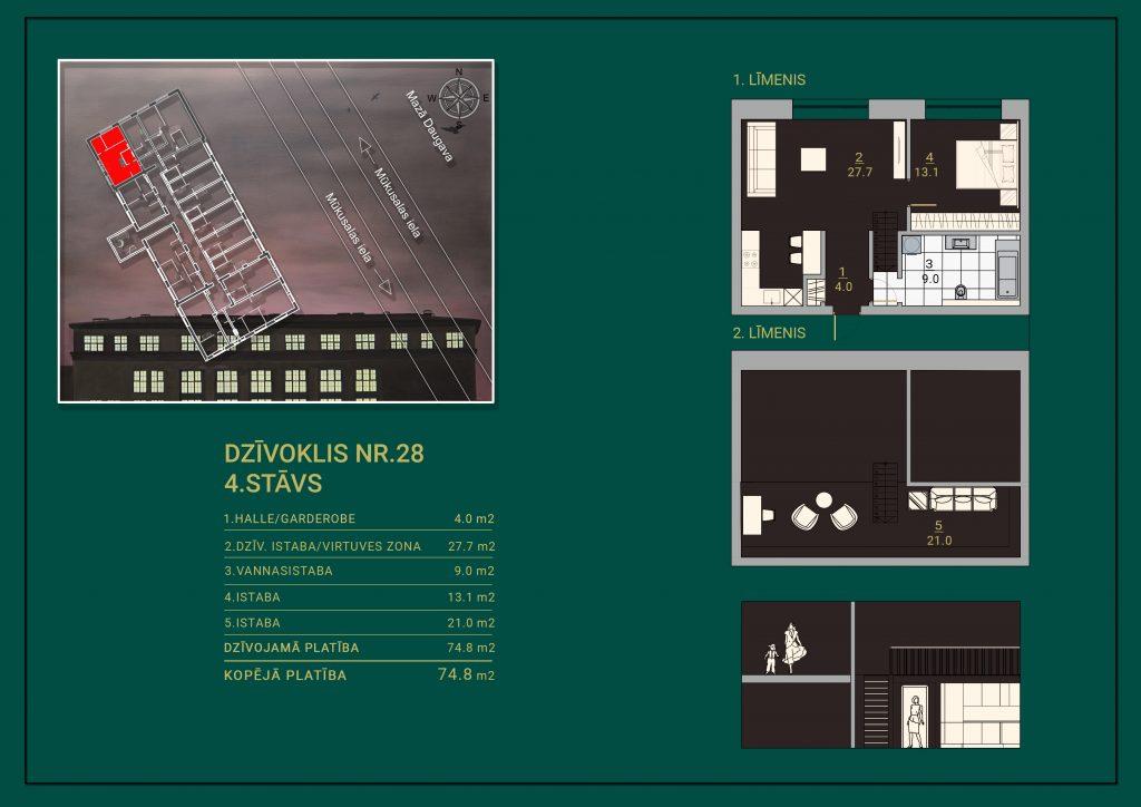 Dzīvoklis Nr. 25 Plāns