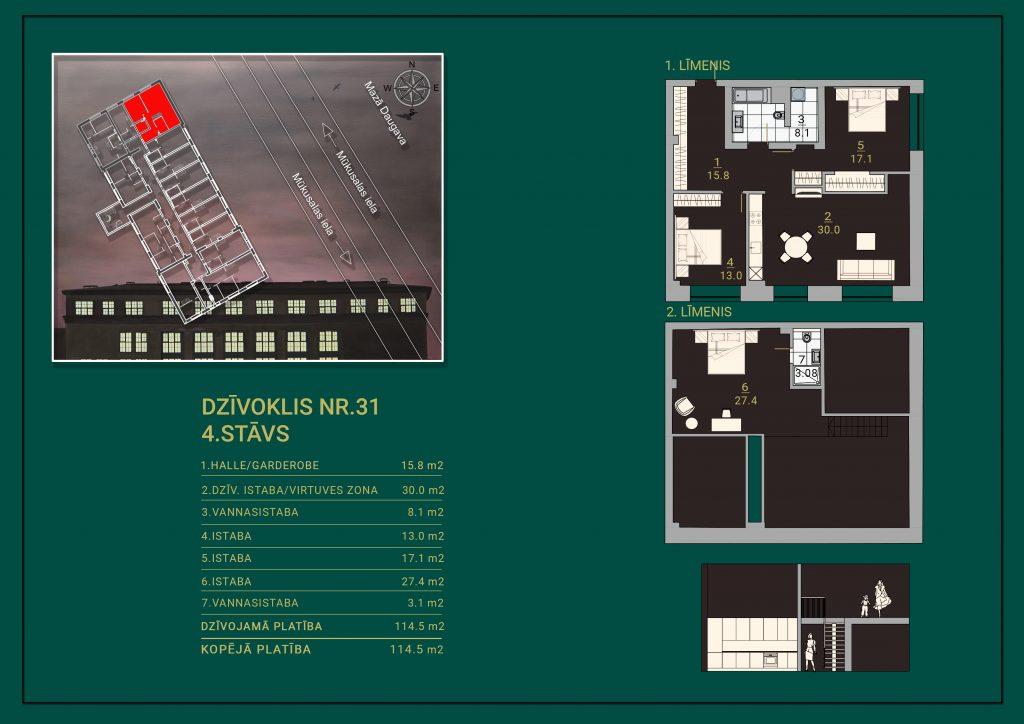 Dzīvoklis Nr. 31 Plāns