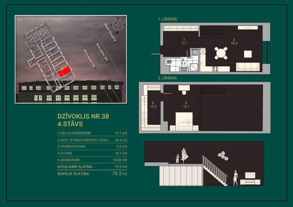 Dzīvoklis Nr. 38 Plāns