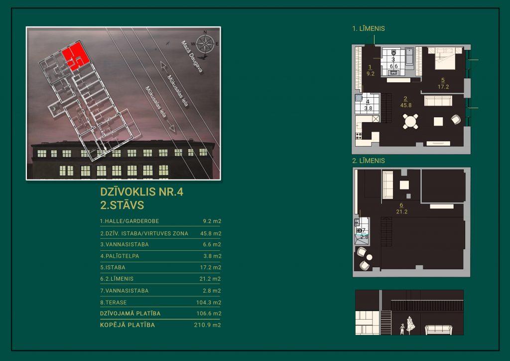 Dzīvoklis Nr. 4 Plāns