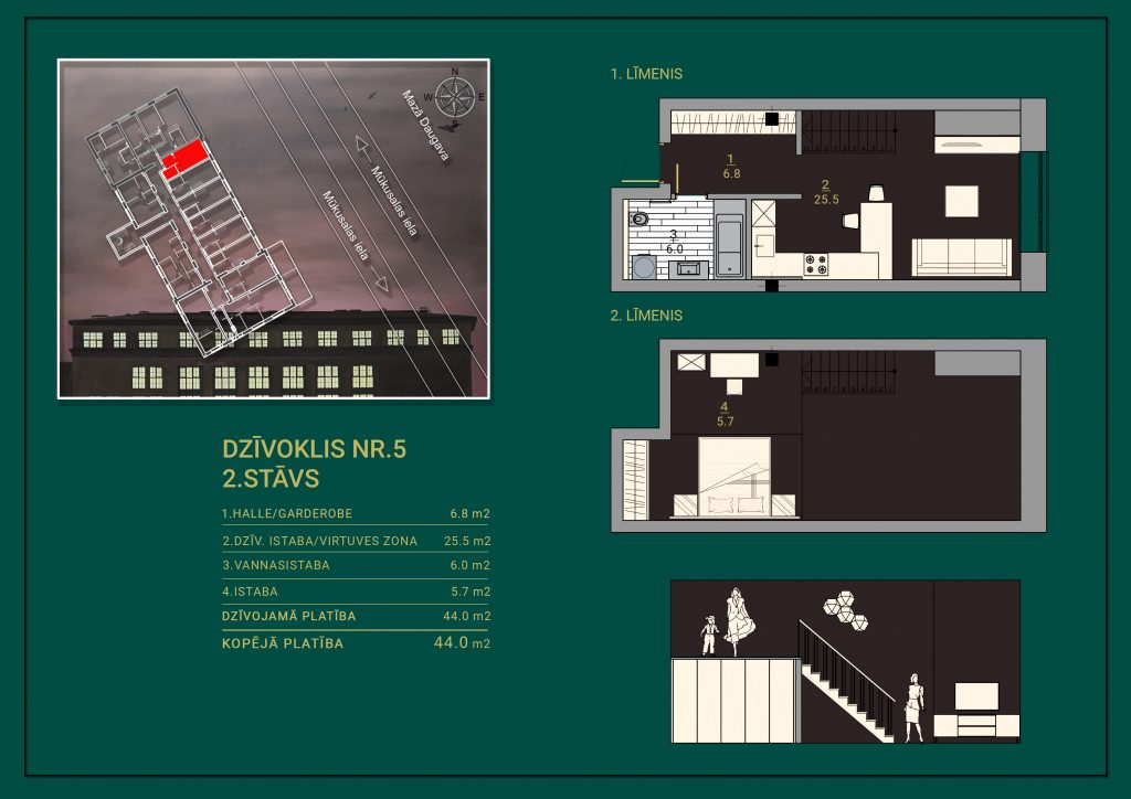 Dzīvoklis Nr. 5 Plāns