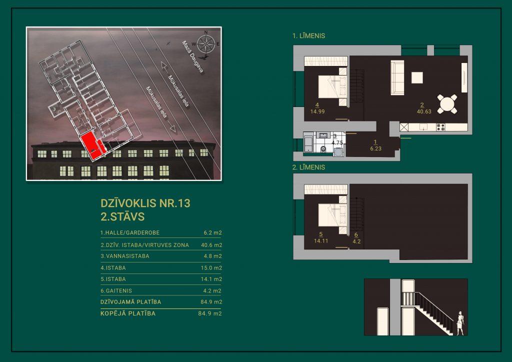 Dzīvoklis Nr. 13 Plāns